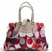 Amazon.com: COACH Authentic Genuine Ashley Signature Scarf Print Carryall Womens Handbag Purse,MSRP $358!: Clothing