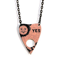 Ouija Board Necklace YES Planchette Medium by XOSkeletonCreations