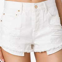 Spiked Distressed Denim Shorts | FOREVER 21 - 2027706275
