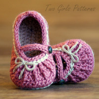 Crochet Pattern Too Cute  Mary Janes 