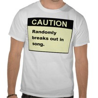 Random Song T Shirts from Zazzle.com