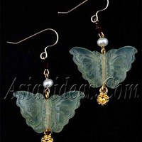 Su Chou Jade Butterflies Earrings