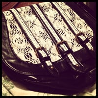 Black Lace Messenger Bag by MyCreativeMind1993 on Etsy