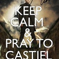 SIGNED PP SUPERNATURAL KEEP CALM MISHA COLLINS CASTIEL A4 POSTER PHOTO UNIQUE