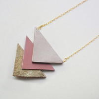Hit my heart with your arrow  leather necklace or by QUOLIAL