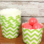Lime Chevron Small Baking Cups Candy Cups by thebakersconfections
