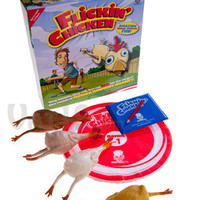 Flickin' Chicken: Indoor/outdoor rubber chicken tossing game.