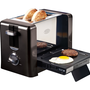 Nostalgia Electrics BTG-100BLK Flip-Down Breakfast Toaster