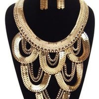 GOLD BODY JEWEL NECKLACE SET  Tanny&#x27;s Couture LLC