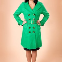 Edith & Ella - Trenchcoat in Green
