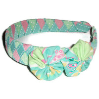 Woven Ribbon Headband with Lilly Pulitzer Fabric by xoribbons