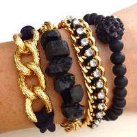 Blackout Arm Candy Bracelet Stack Set