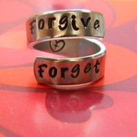 forgive and forget aluminum swirl ring