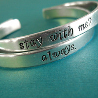 Hunger Games Bracelets Katniss and Peeta -Stay with me Always by SpiffingJewelry