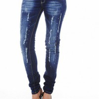 Diamante Torn Jean