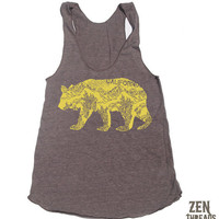 Womens California BEAR american apparel TriBlend by ZenThreads