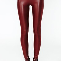 City Slick Leggings - Oxblood