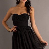 Short Strapless Black Dress