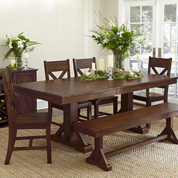 verona trestle table dining room tables from cost plus world