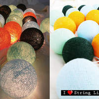 Cool Party Colour Set Cotton Ball String Lights For Wedding and House decoration (20 Flowers/Set)