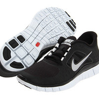 Nike Free Run + 3 Womens Running Shoes black silver white 510643-002 BNIB