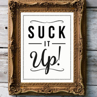 Retro Art Print 'Suck it up' by RockTheCustardPrints