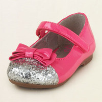 baby girl - outfits - patent bow ballet flat | Children's Clothing | Kids Clothes | The Children's Place