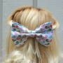 Bird bow hair clip - big bow - colorful - kawaii - bow barrette - feminine