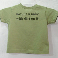 Screenprinted Childrens Tee Shirt Boy Definition by TeezLoueez
