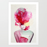 Bright Pink - Part 2  Art Print by Jenny Liz Rome