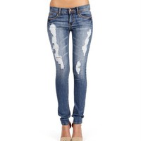 Light Denim Deistressed Jeans