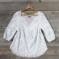 Moonflower Lace Blouse, Sweet Country Inspired Clothing