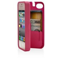 Pink Case for iPhone 4/4S with built-in storage space for credit cards/ID/money, by EYN (Everything You Need): Cell Phones &amp; Accessories