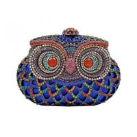 Blue Owl Clutch from Hallomall