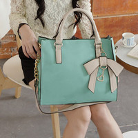 doshow — New Style Hit Color Three-dimensional Bow Handbag