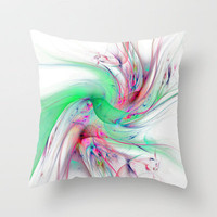 Bird Of Paradise Throw Pillow by Ally Coxon | Society6