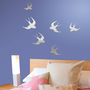 Bird Mirror Wall Decals - 6 pc. Set