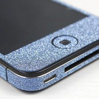 Nice Cool Shiny Sparking Blue Rhinestone Fashion Sticker For iPhone 4/4S/5