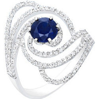 Max &amp; Chloe - Nehita Sapphire Swirl Ring - Max and Chloe