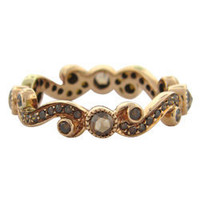Max & Chloe - Sethi Couture Champagne Diamond Scroll Ring - Max and Chloe
