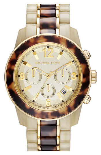 Michael Kors 'Preston' Two Tone Chronograph Bracelet Watch | Nordstrom