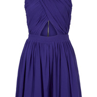 Wrap Mesh Ruche Skater Dress - Dresses - Clothing - Topshop