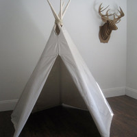 $150.00 6 ft Fold Away Canvas Teepee by houseinhabit on Etsy
