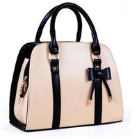 Cute pink bow handbag for women