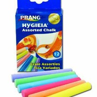 Amazon.com: Prang Hygieia Chalk, 3.25 x .375 Inch Chalk Sticks, 12 Count, Assorted Colors (61400): Office Products