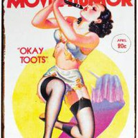 Okay Toots Movie Humor Tin Sign
