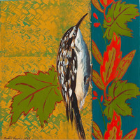 Original Acrylic Painting - Brown Creeper - Bird Art