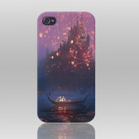 Tangled  Latterns iPhone 4 case iPhone 4s Case Hard by TICKandPICK