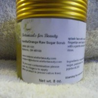 Vanilla and Orange Sugar Scrub | botanicalsforbeauty - Bath & Beauty on ArtFire