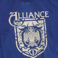 World of Warcraft Alliance Crest T-Shirt NEW Blizzard Licensed WOW Gamer Tee XL